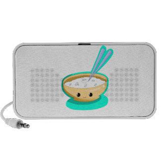 Happy Yellow Rice Bowl iPod Speakers