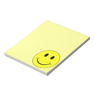 Happy Yellow Smiley Face Graphic Notepad