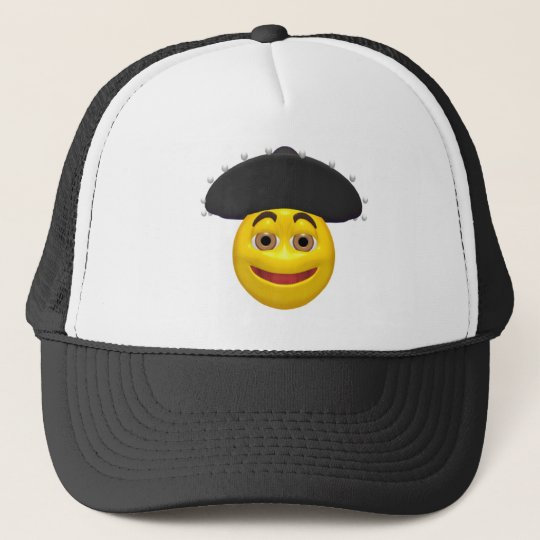 Happy yellow smiley wearing a mexican hat