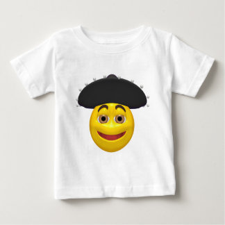 Happy yellow smiley wearing a mexican hat baby T-Shirt
