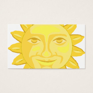 happy yellow sunflower graphic business card