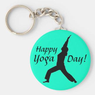 Happy Yoga Day! Keychain-Jade Keychain