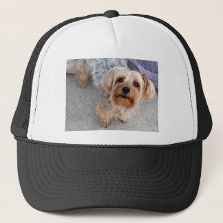 Happy Yorkie Puppy Trucker Hat