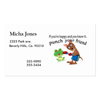 Happy & You Know It Punch Your Friend Double-Sided Standard Business Cards (Pack Of 100)
