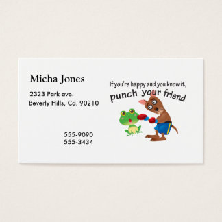 Happy & You Know It Punch Your Friend Business Card