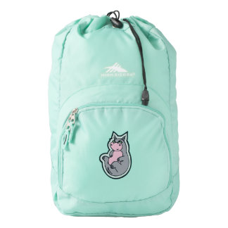 Happy Young Gray Hippo Drawing Design High Sierra Backpack