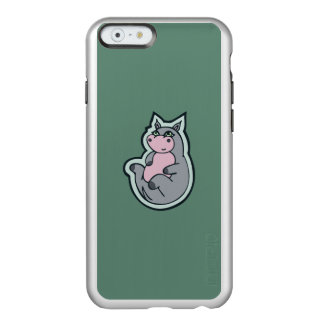 Happy Young Gray Hippo Teal Drawing Design Incipio Feather Shine iPhone 6 Case