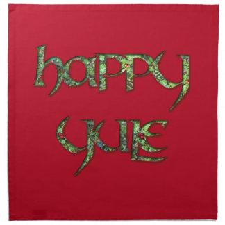 Happy Yule Dinner Napkin (Cloth)