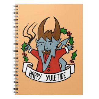 Happy Yuletide Krampus Notebook