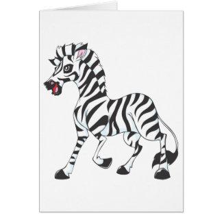 Happy Zebra Card