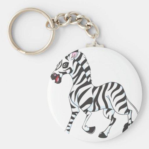 Happy Zebra Key Chain
