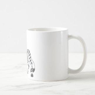 Happy Zebra Classic White Coffee Mug