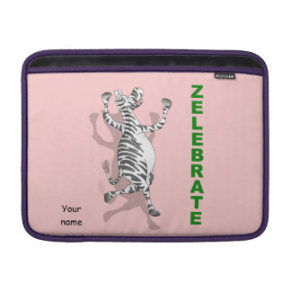 Happy Zebra ZELEBRATE MacBook Air Sleeves