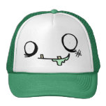 Happy Zombie Face Mesh Hat