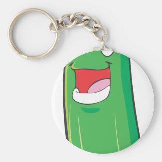 Happy Zucchini Vegetable Cartoon Keychain