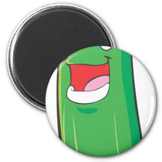 Happy Zucchini Vegetable Cartoon Magnet