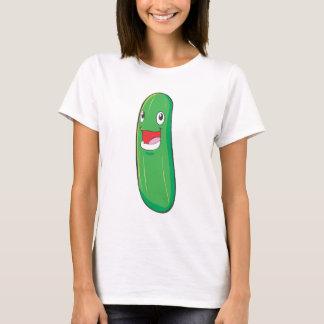 Happy Zucchini Vegetable Cartoon T-Shirt
