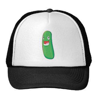 Happy Zucchini Vegetable Cartoon Trucker Hat