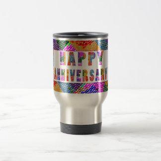 HappyAnniversary Artistic Text 15 Oz Stainless Steel Travel Mug