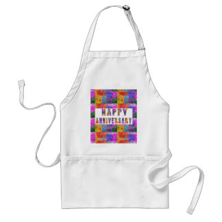 HappyAnniversary Artistic Text Aprons