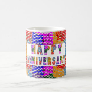 HappyAnniversary Artistic Text Classic White Coffee Mug