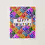 HappyAnniversary Artistic Text Puzzle