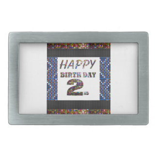 HappyBirthday 2nd Text Belt Buckle