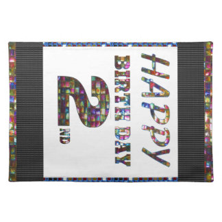 HappyBirthday 2nd Text Cloth Placemat