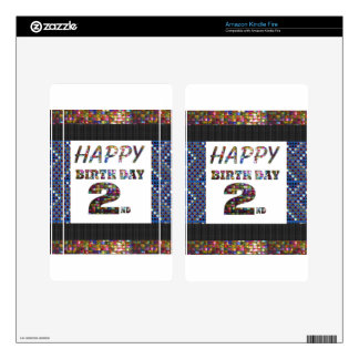 HappyBirthday 2nd Text Kindle Fire Decals