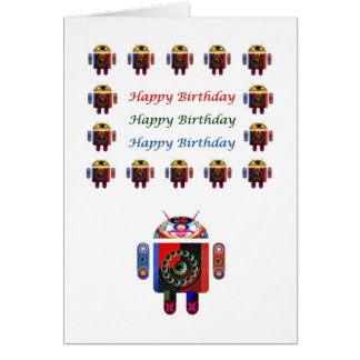 HappyBirthday ANDROID Happy Birthday Card