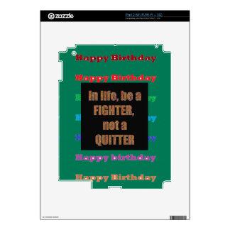 HappyBirthday Birthday Acrylic Texture base fun 99 iPad 2 Skin