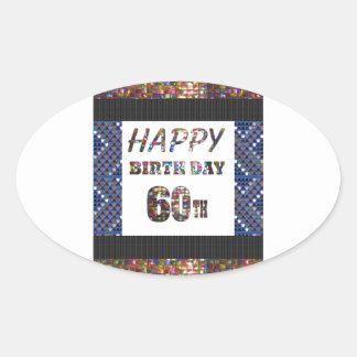 HappyBirthday birthday designs Oval Sticker