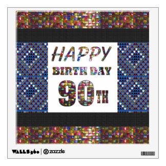 happybirthday  birthday sticker 90th ninety wall decor