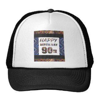 happybirthday happy birthday 90 ninety  90th trucker hat