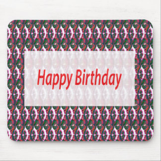 HAPPYbirthday Happy Birthday Gifts Jewel Pattern Mouse Pad