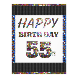 happybirthday happy birthday greeting 55 55th letterhead
