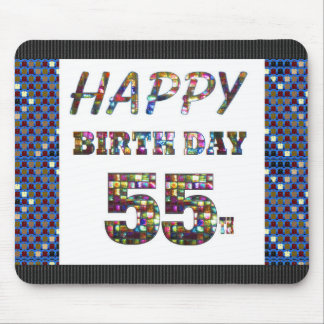 happybirthday happy birthday greeting 55 55th mouse pad