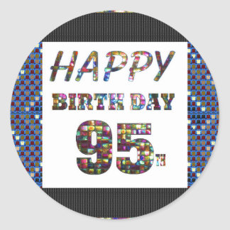 happybirthday happy birthday greeting text quote classic round sticker