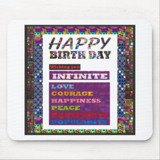 HappyBirthday Happy Birthday Greetings n Gifts Mouse Pad