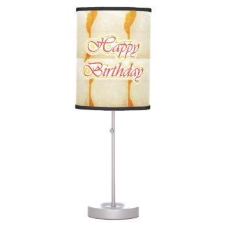 HappyBirthday Happy Birthday on CRYSTAL SAFFRON Ba Table Lamp