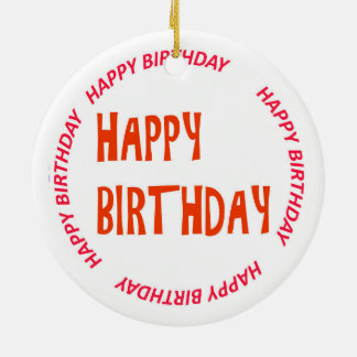 happyBIRTHDAY HAPPY Birthday ORNAMENTS