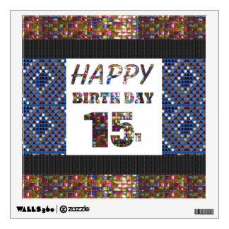 happybirthday happy birthday sticker 15th fifteen