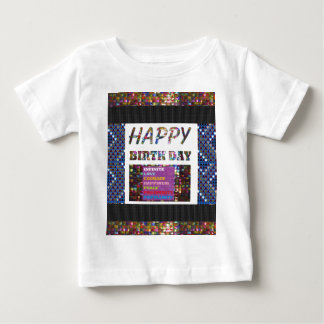 happybirthday happy birthday text quote greetings baby T-Shirt