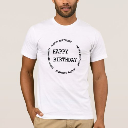 HAPPYbirthday Happy Mens Basic T_Shirt