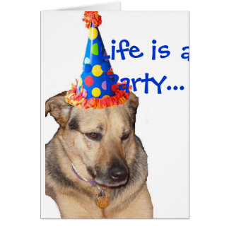 HappyBirthday, Life is a Party... Greeting Card