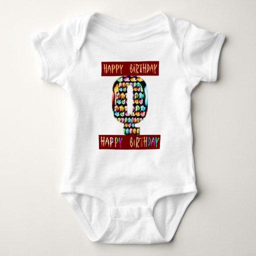 HappyBirthday Script  - ALPHA Alphabet Decorative Tee Shirts