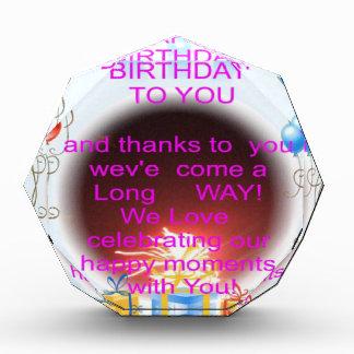 HappyBirthday To you Acrylic Award