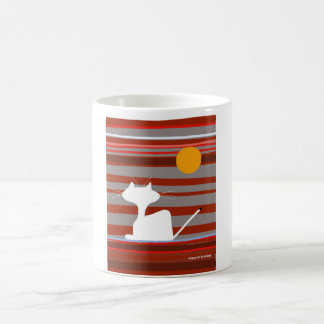 happycat mug with morning sun and stripes