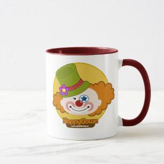 happyclown mug red