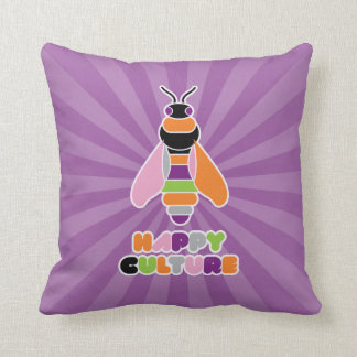HappyCulture Honey Bee Throw Pillow